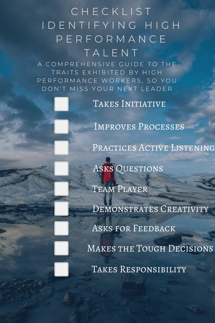 Checklist High performance talent