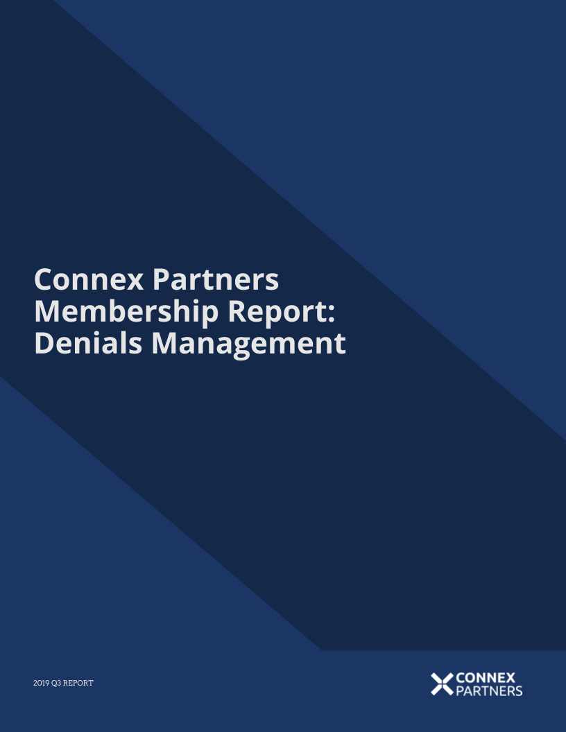 Denials Management 2019 Q3 Report
