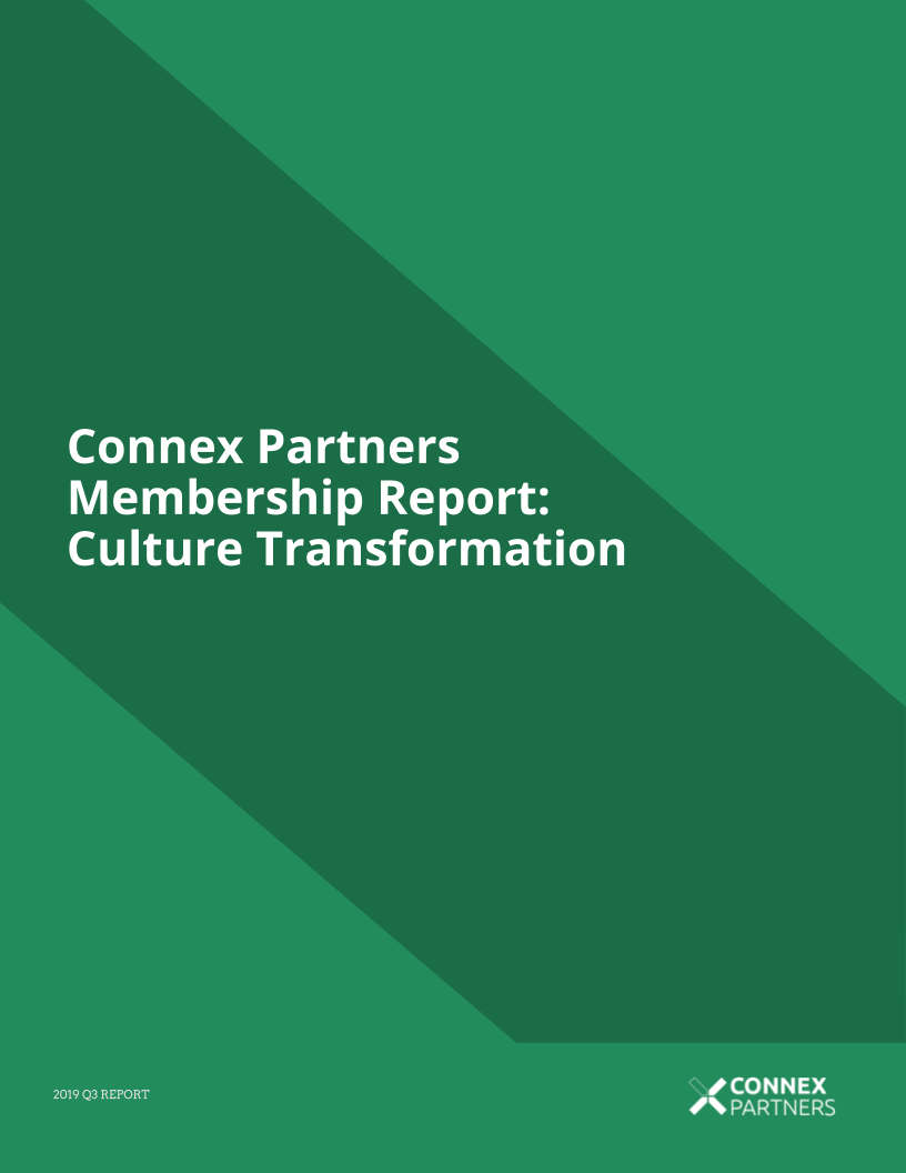 Membership Report: Culture Transformation - 2019 Q3