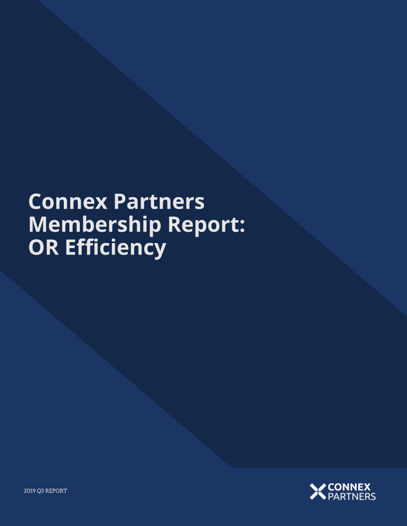 Membership Report: OR Efficiency - 2019 Q3