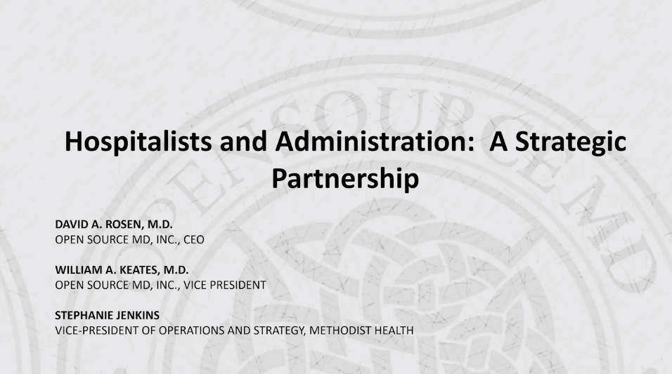 Hospitals and Administration: A Strategic Partnership - Podcast